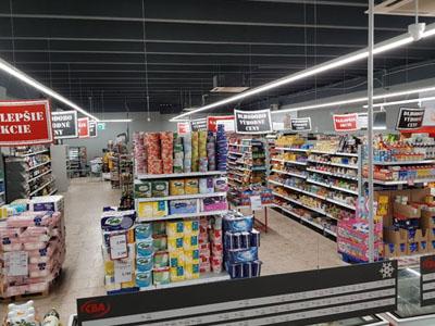 Úspora v osvetlenie pre obchodné priestory